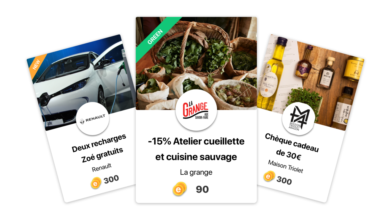 Rewards Area: take advantage of exclusive offers in exchange for your eCoins