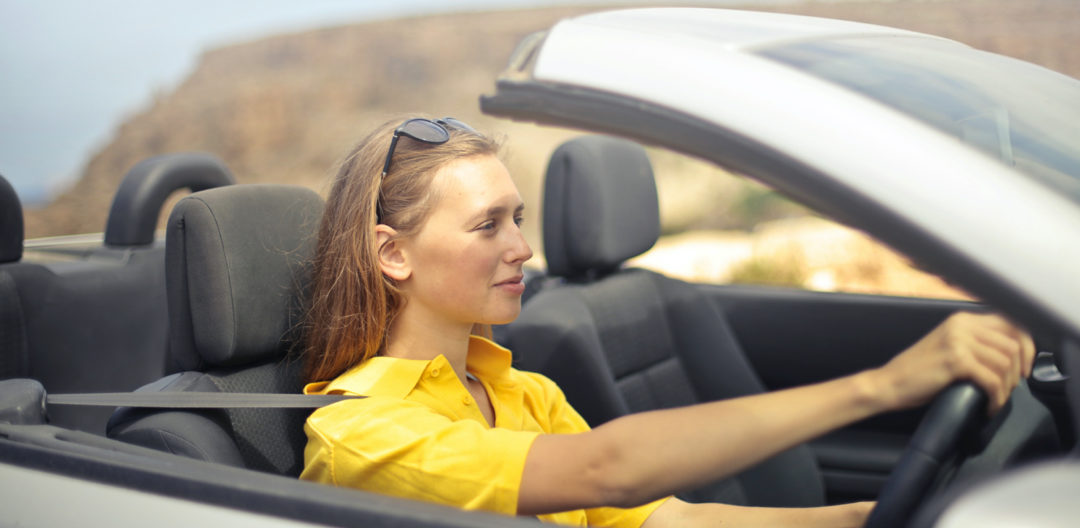 woman at the driving position