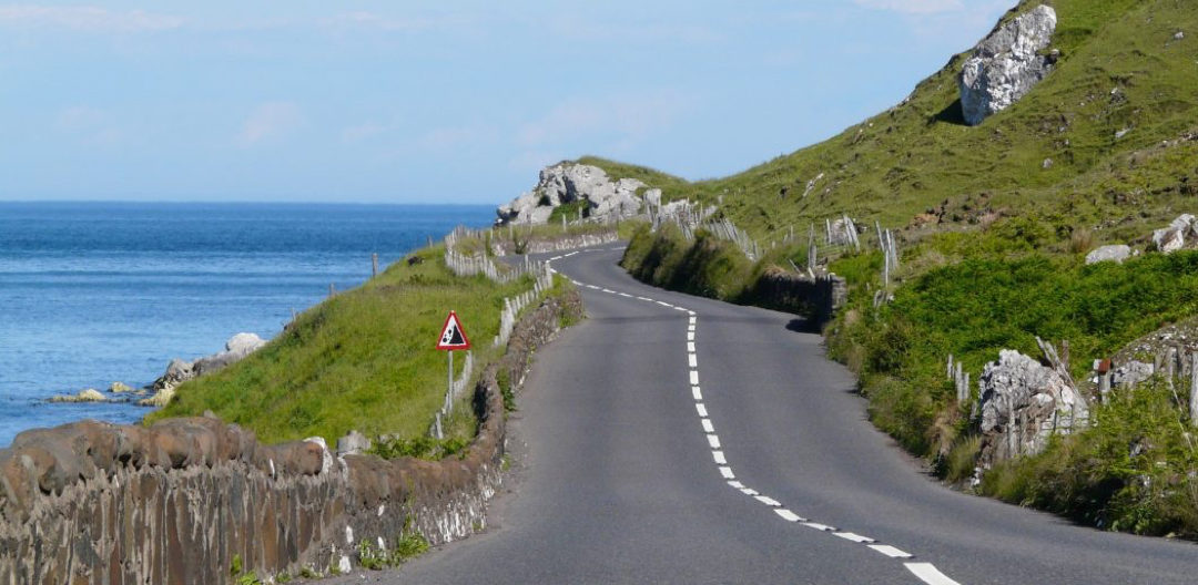 winding road to show that you have to manage the other road users