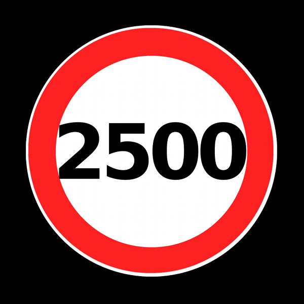 eiverTip 60: No more than 2,500