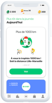 eiver App Screenshot - Timeline