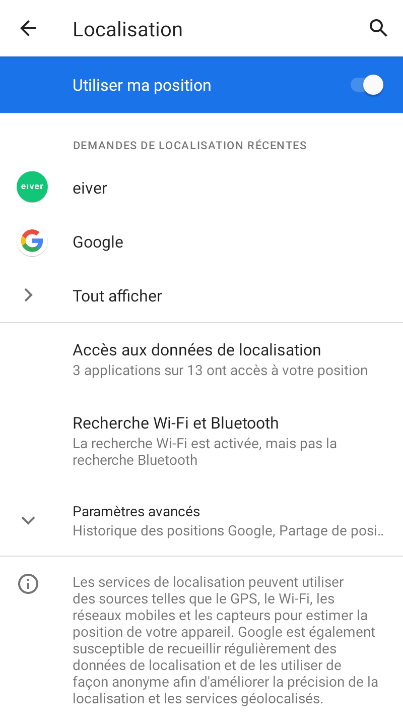 screenshot 1618234902 - Comment optimiser la capture des trajets eiver sur Android ?